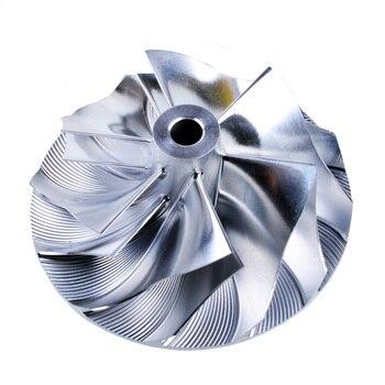 Kinugawa Turbo takoz kompresör çarkı 52.56/68.01mm 6 + 6 Ters Mitsubishi TD05HR TD06SL2R 20G EVO 4- 9 SRT4 9179-43400