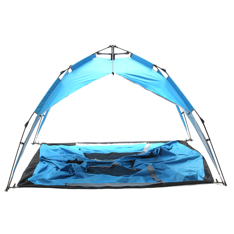 Top Quality 3-4 persons  Camping Tent Multi-Functional Automatic Tent Outdoor Camping Beach With 8 Ground Nails high quality outdoor 2 person camping tent double layer aluminum rod ultralight tent with snow skirt oneroad windsnow 2 plus