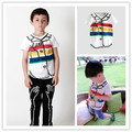2017 spring summer kids rainbow pattern t shirts boys clothing girls clothing brand kids clothes ins hot new arrival wholesale