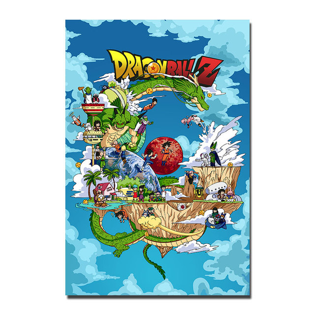 Dragon Ball Z Goku Anime Silk Poster Wall Art Huge Print Painting 12×18 32×48 Inch Decoration Pictures Bedroom 008