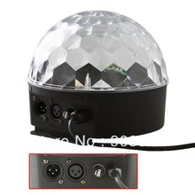 Free Shiping 6 Channel DMX512 Control Digital LED RGB Crystal Magic Ball Effect Light With LCD