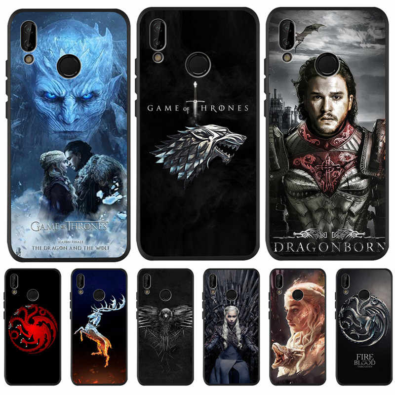 Game Thrones Daenerys Dragon pour Huawei P8 P10 P20 P30 Mate 10 20 Honor 8 8X 8C 9 10 Lite Plus Pro housse Coque Etui Funda