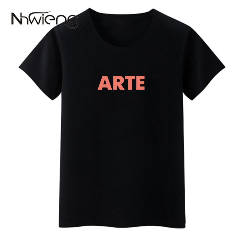 Letfashion Store ARTE Letter Printed 2017 Fashion Blouses Tops Short Sleeve T Women Clothing Blouse Shirt Casual Top Tee Shirts Blusas Femininas