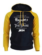 Letter Print Hogwarts The Shire Jedi Men's Hoody 2017 New Arrival Sweatshirts Autumn Winter Fleece Hoodies Raglan Sportswear