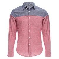 Новый Slim Fit Для мужчин хлопковая рубашка с длинными рукавами в стиле пэчворк и пуговицы Дизайн Для мужчин Рубашки для мальчиков 2017 Повседнев...