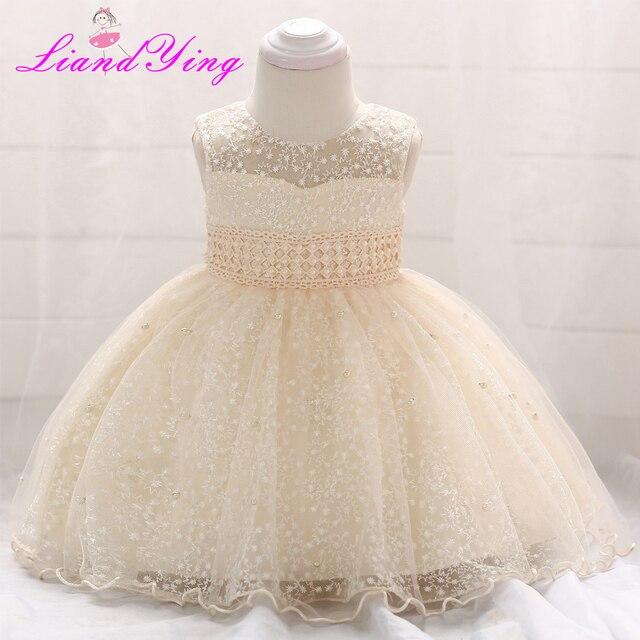 6a7fe8332e Nowy urodziny sukienka dla dzieci Baby Girl chrzest chrzciny suknie Baby  Girl chrzest sukienki pierwszym roku