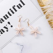 MENGJIQIAO 2018 New Korean Many Styles Circle Acrylic Flower Drop Earrings For Women Shiny Zircon Brincos Summer Accessories