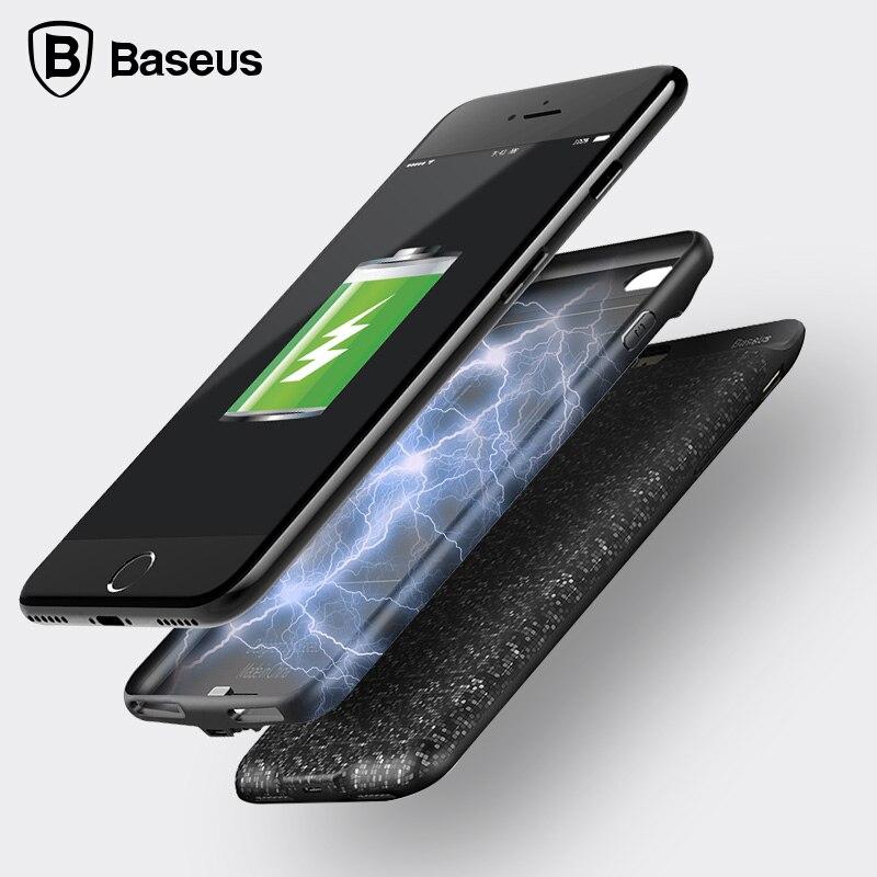 imágenes para De Baseus Caso Del Cargador de Batería Para el iphone 7 2500 mAh Energía de La Batería Delgada Caso de La Contraportada Para el iphone 7 Plus 3650 mAh banco Cargador de Casos