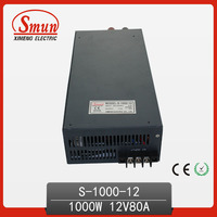 1000W AC DC Single Output 12VDC 80A Switching Power Supply Unit SMPS S 1000 12