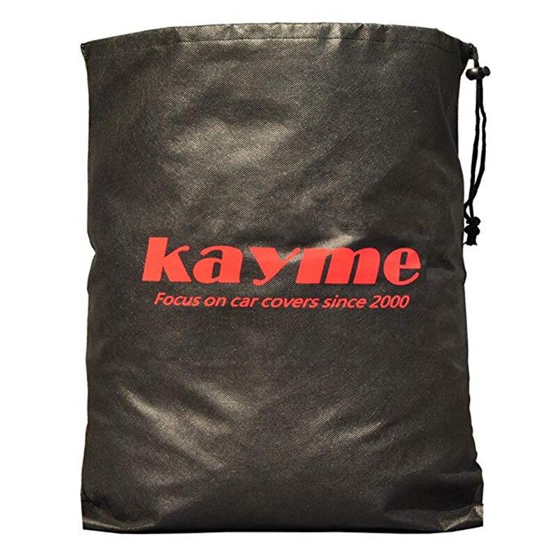 Kayme en aluminium housse de protection de voiture étanche voiture parasol protection solaire universel couvre parasol pare-brise protecteurs S M XL - 6