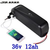 US EU No taxes lithium battery 36v 12ah e bike battery for 36V 250W 500W bafang Bafang BBS02B motor +2A charger