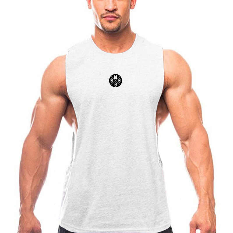 3385ba6b2a ... Muscleguys Mens Casual Loose Fitness Tank Tops For Male Summer Open  side Sleeveless Active Muscle Shirts ...