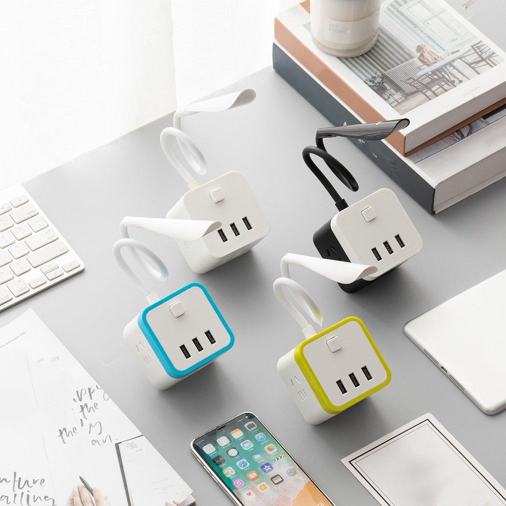 3 USB New Exquisite National Standard Socket Charging Tripod Socket Converter Natural Light Fast Charging Drop Shipping