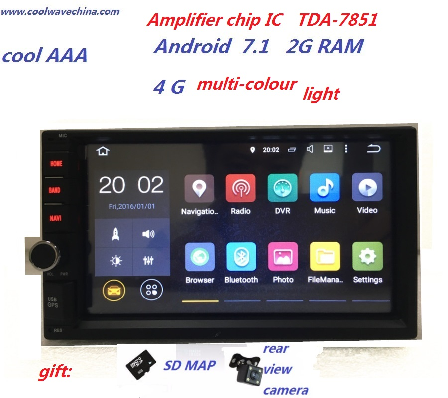 imágenes para Android 7.1 radio de coche multimidia Intercambiables sin Automotivo DVD RDS de Radio Estéreo Del Coche de Navegación GPS Audio Pc Central