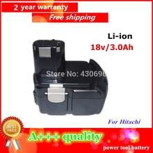 NUEVA 18 v 3.0Ah Li-ion batería de la herramienta eléctrica Para HITACHI BCL1815 Reemplazar, EBM1830 C18DL C18DLP4 C18DLX C18DMR C6DC C6DD CJ18DL