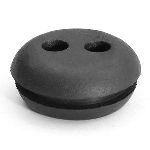 Image 3 - 5 adet siyah kauçuk 2 delik yakıt gaz deposu Grommet yedek Stihl Honda düzeltici çim biçme makinesi lastik takozlar