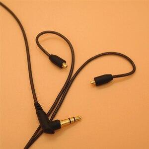 Image 3 - DIY wymiana słuchawki kabel MMCX dla Shure SE215 SE535 SE846 UE900 ulepszony 14 rdzeni zestaw słuchawkowy przewód Audio dla iphone Android