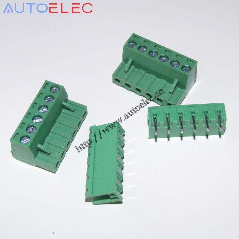 6 Pin Terminal Block Škoda 1j0973713: 6Pin Pitch5.0mm Female And Male Right Angle Pin PCB