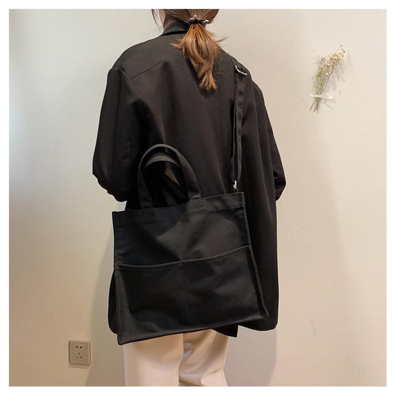 Canvas Bag Vintage Canvas Shoulder Bag Women Handbags Ladies Hand Bag Tote Casual Bolsos Mujer Hobos Bolsas Feminina 2019 New in Top Handle Bags from Luggage Bags