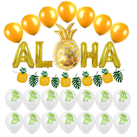 5/24pcs Hawaii Party Decorations Pineapple Foil Balloons Aloha Party balloon Letter Air Balls Pineapple Party Supplies Globos
