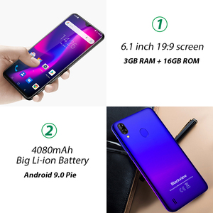 """Image 4 - Blackview A60 Pro 4080Mah Smartphone 6.088 """"Waterdrop Mobiele Telefoon Android 9.0 3Gb Ram Dual Achteruitrijcamera 4G Lte"""