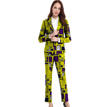 hot deal buy dashiki clothes women print suits blazers with trousers ankara fashion pant suits custom made african wedding outfits