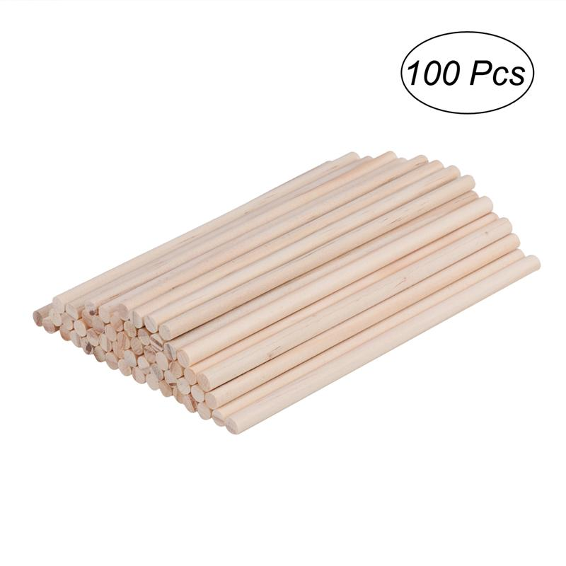 0.5CM*30CM Wooden Crafts Sticks Dowels Pole Pack of 10 Natural White Birch Round Wood Tool