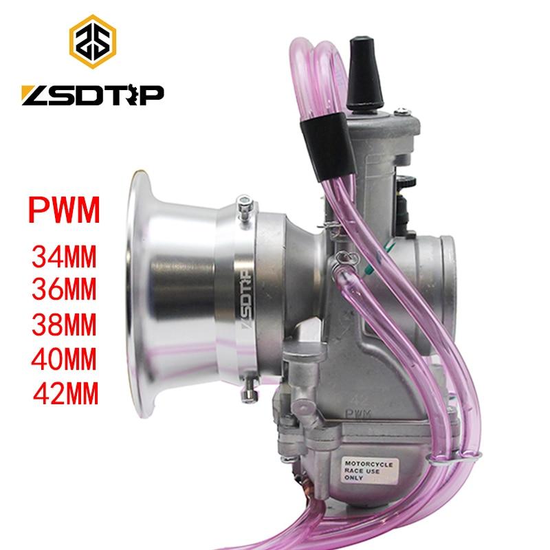 ZSDTRP PWM 34 36 38 40 42mm Keihin Carburetor Universal for Shift Karts 2 4T Racing