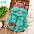 A15 crianças meninas casaco de inverno parkas roupas de inverno casaco para as meninas para Casaco menina Roupas para o Bebé Crianças de 2 Anos 4 5 Anos