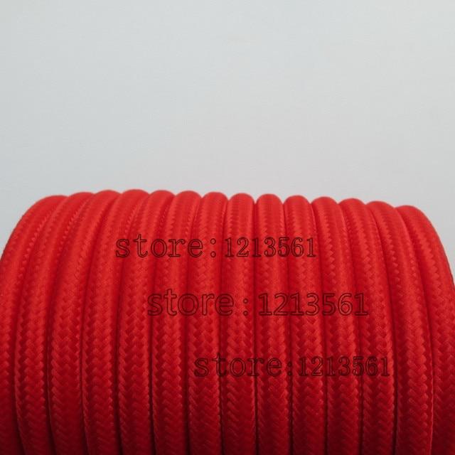 10 meter Rote farbe 2 core 0.75mm2 Textil Elektrischen Draht ...