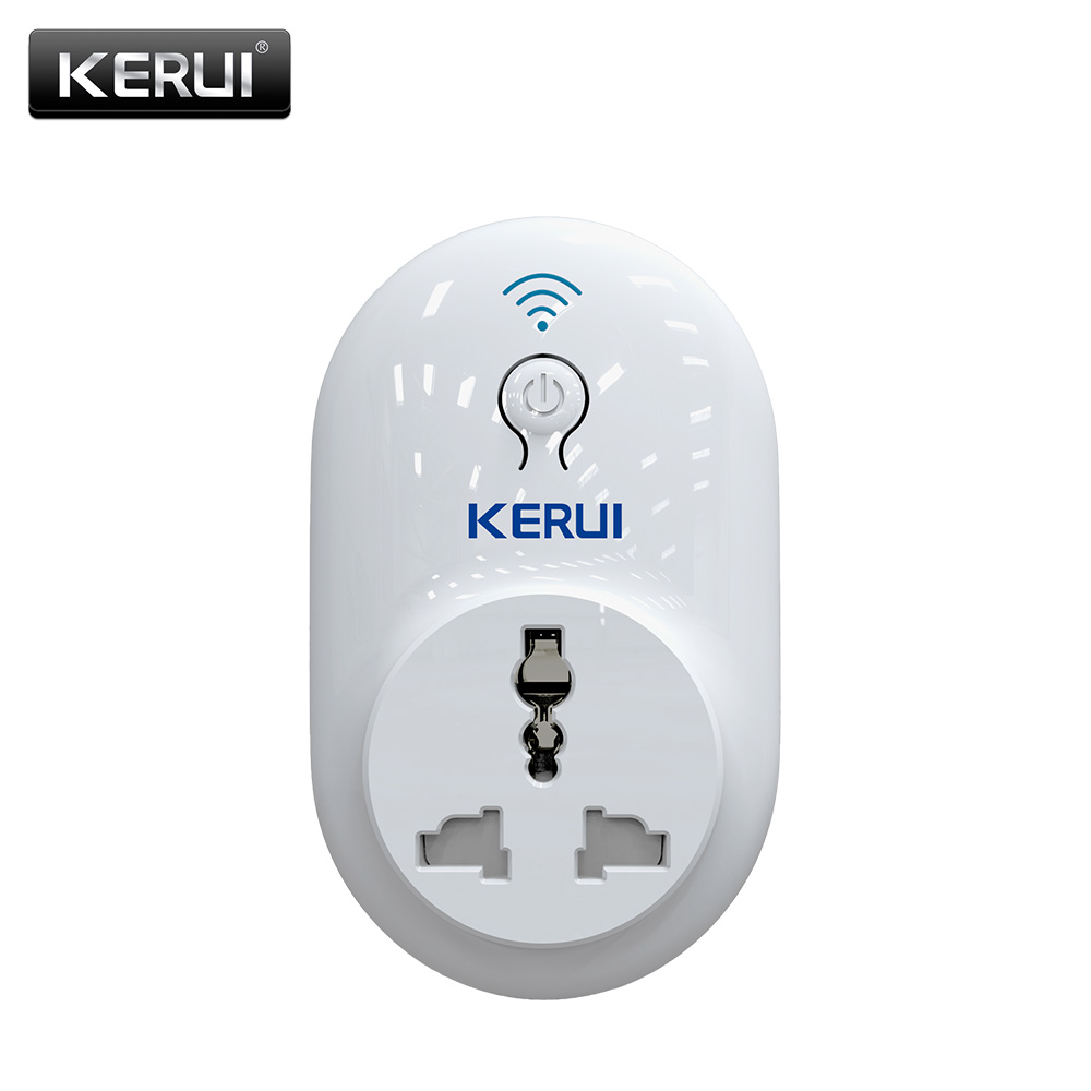 Original KERUI EU/US/UK/AU Wifi Socket Plug Outlet Smart Remote Wireless Controls Timer/Delay Switch IOS Android APP Control gorelax uk wifi wireless remote control socket smart timer plug smart home power socket uk standard via app phone