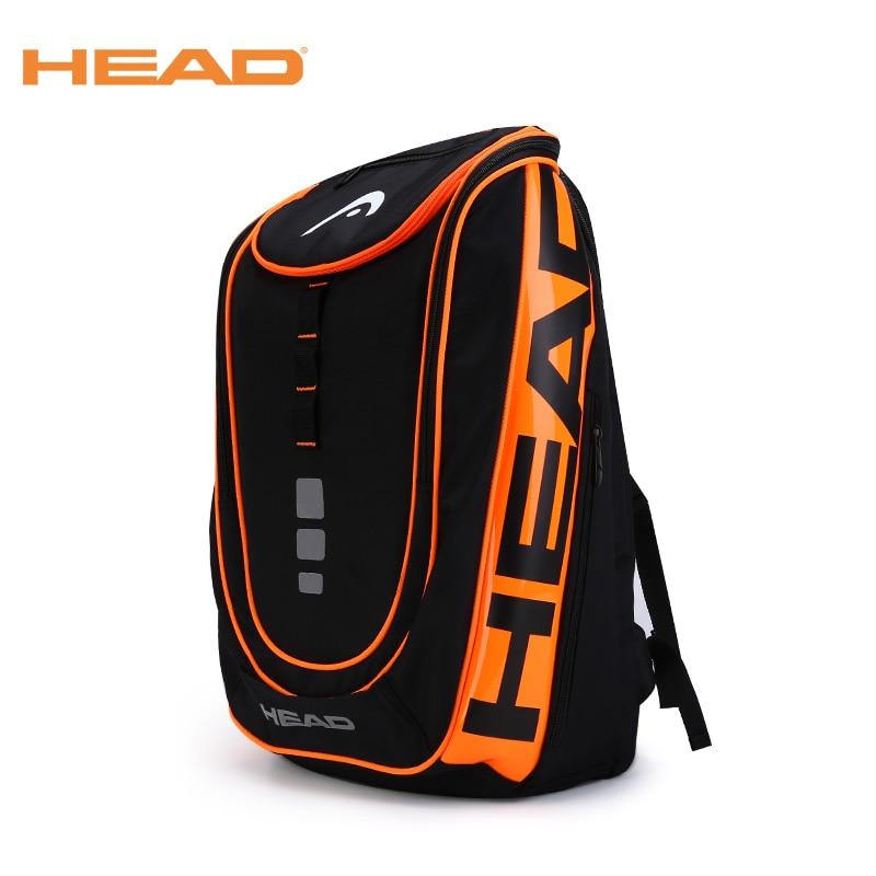 Durable Tennis Bag HEAD Tennis Racket Bag Badminton Bag Badminton Backpack Tennis Backpack Double Shoulder Bag