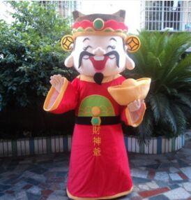 Costumes de mascotte Cai Shen dieu de la richesse costumes de cosplay pour adultes mascotte de nouvel an itères de noël