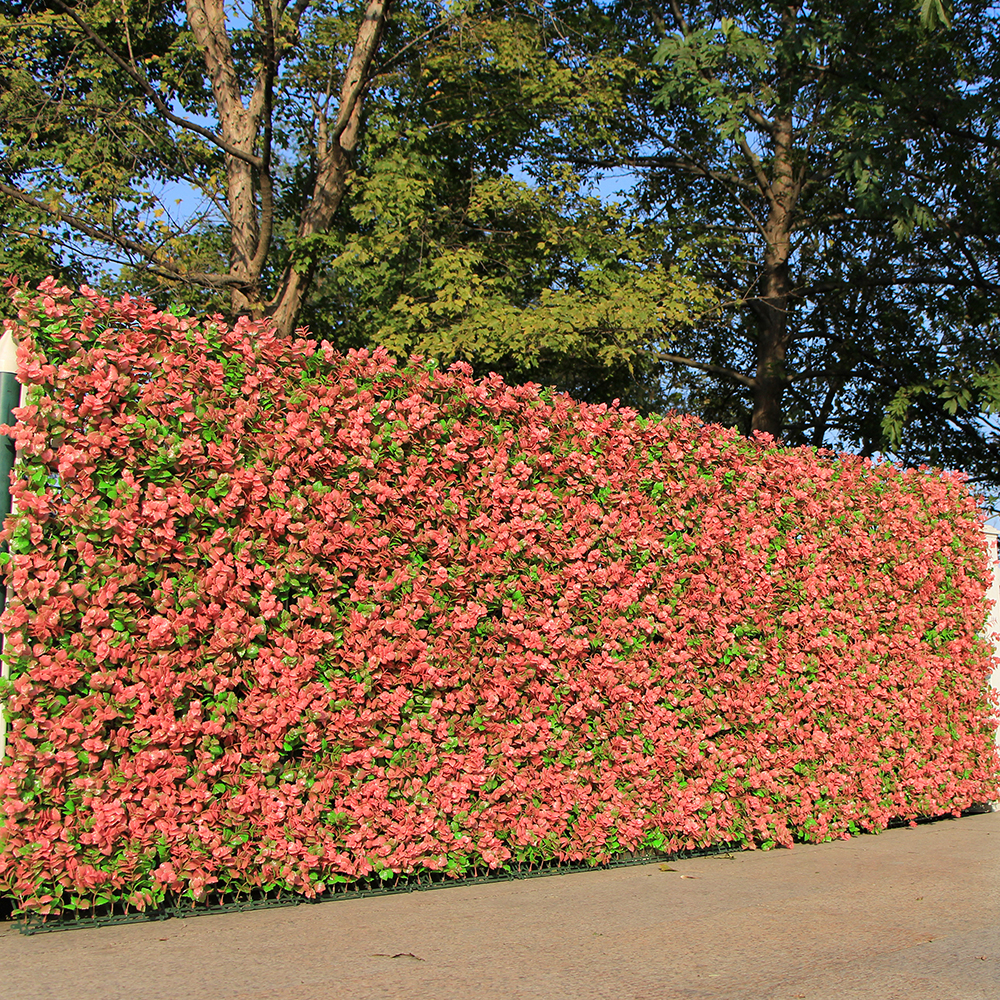 ULAND Artificial Boxwood Hedges Panel Privacy Fence 10x10