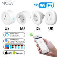 Великобритания, США, ЕС, Wi-Fi умная розетка, штепсельная розетка, дистанционное управление, энергетический монитор, работает с Amazon Alexa Google Home, ...