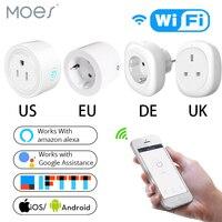 영국 미국 eu wifi 스마트 소켓 전원 플러그 콘센트 원격 제어 에너지 모니터는 amazon alexa google 홈으로 작동합니다. 허브 필요 없음
