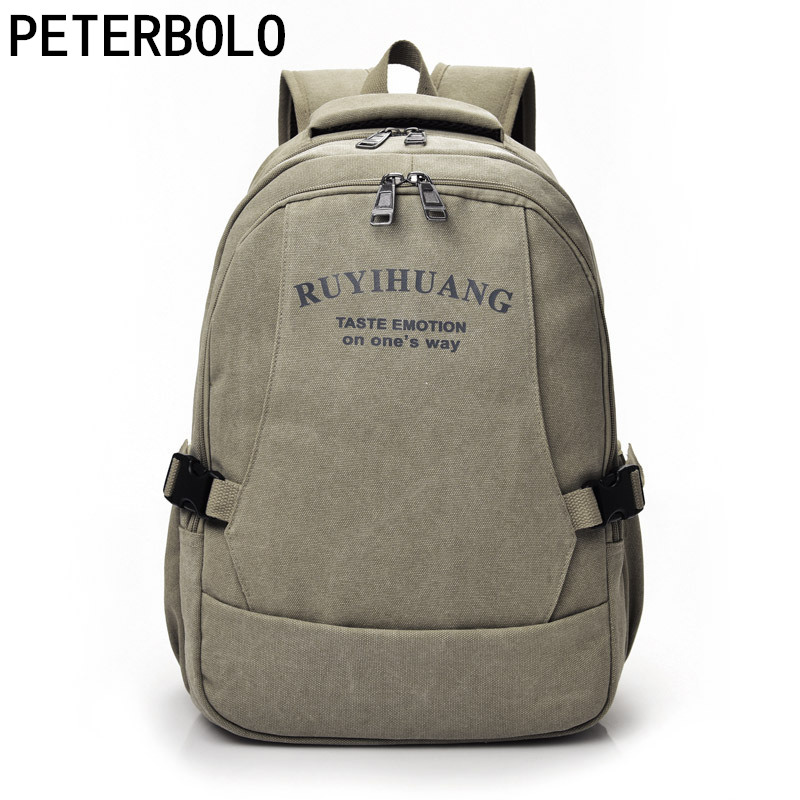 Petetbolo Men's Casual Canvas Backpack Men's Laptop Rucksack Travel Bag Student School Bag Vintage Mochila new team teleyi cycling jerseys 2017 short sleeves summer breathable cycling clothing pro mtb bike jerseys ropa ciclismo