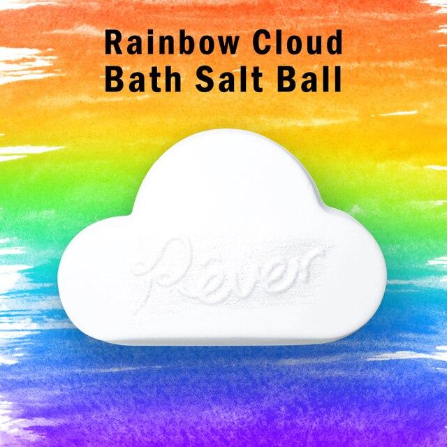 Handmade Bath Salt Ball Rainbow Natural Bath Bomb Moisturizing Bubble Bath Salt Ball Body Essential Oil Bubble Bath 4