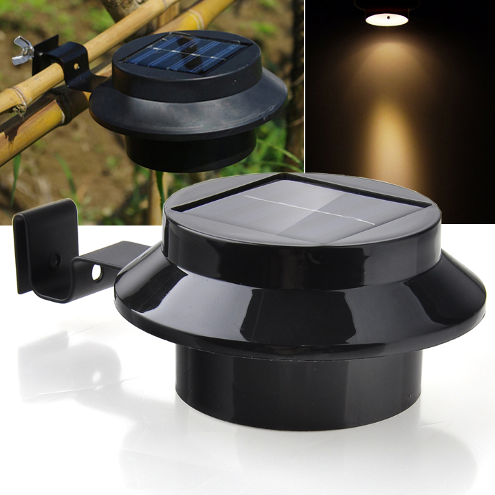 Outdoor solar powered 3 led wall light path landscape mount garden outdoor solar powered 3 led wall light path landscape mount garden fence light lamp courtyard wall light energy saving in solar lamps from lights lighting aloadofball Gallery