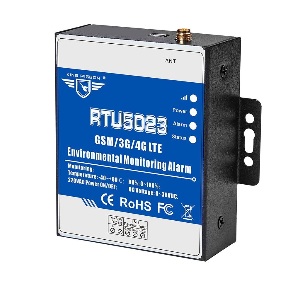 Купить с кэшбэком GSM Temperature Humidity Environment Alarm Power Situation SMS Alert Remote Monitoring DC Power Timer Report APP Control RTU5023