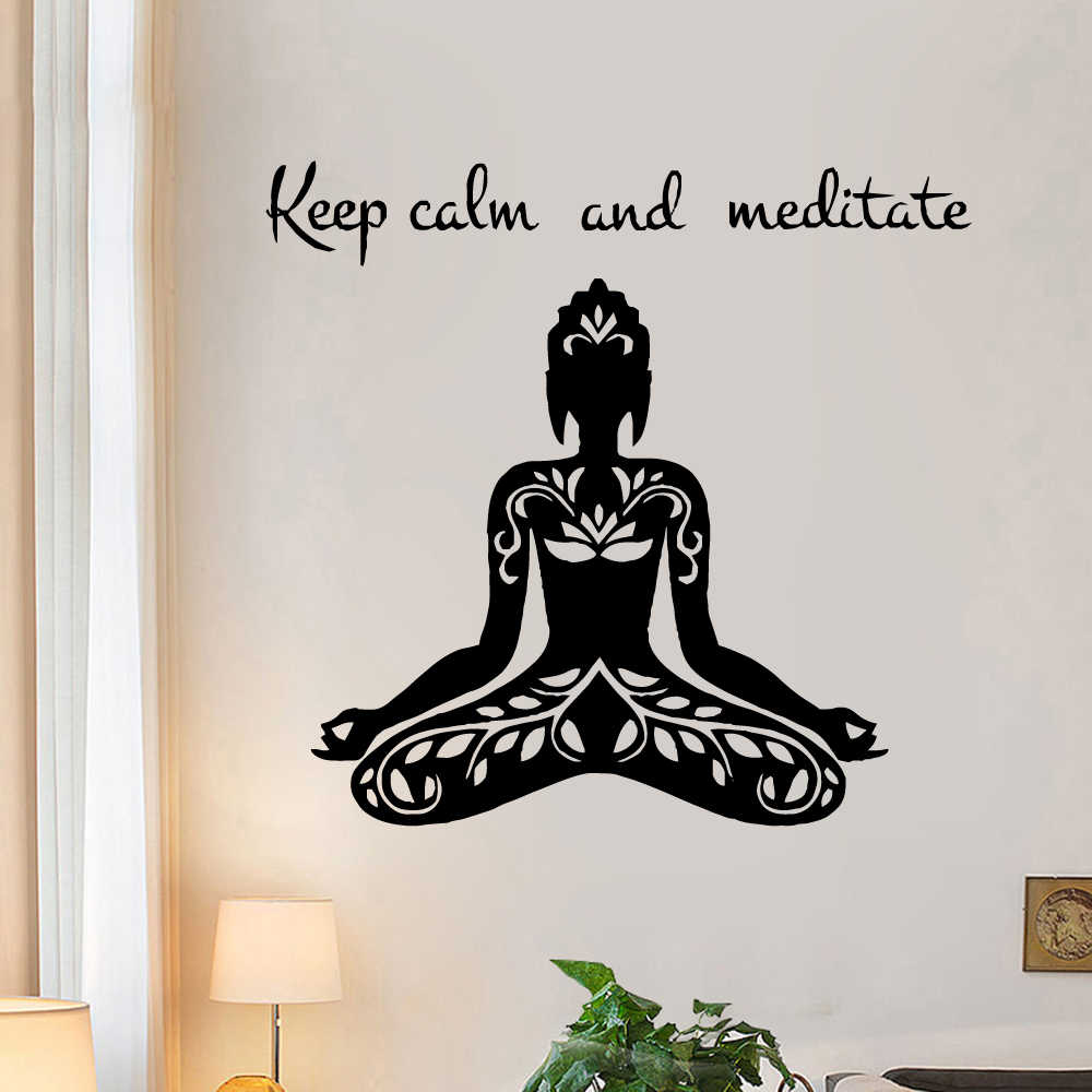Buddha Wall Sticker Vinyl Decor For Living Room Kid Room Decoration Fashion yoga wallstickers Mural Decal Stickers