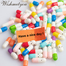 WISHMETYOU 50Pcs Expression Message Letter Capsule Randomly Color Creative Love Pills Gifts Rolls Mini Event Surprised New