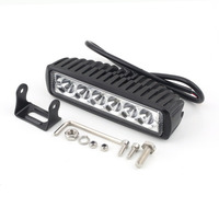 Clearance Sale The Lowest Selling 18W 6LED Light BAR FLOOD BEAM Work Driving OFF ROAD Snowmobile