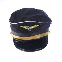f7dbfff0ebd 1PC Wing Captain Navy Marine Skipper Sailor Military Nautical Hat Cap Fancy  Dress(China)