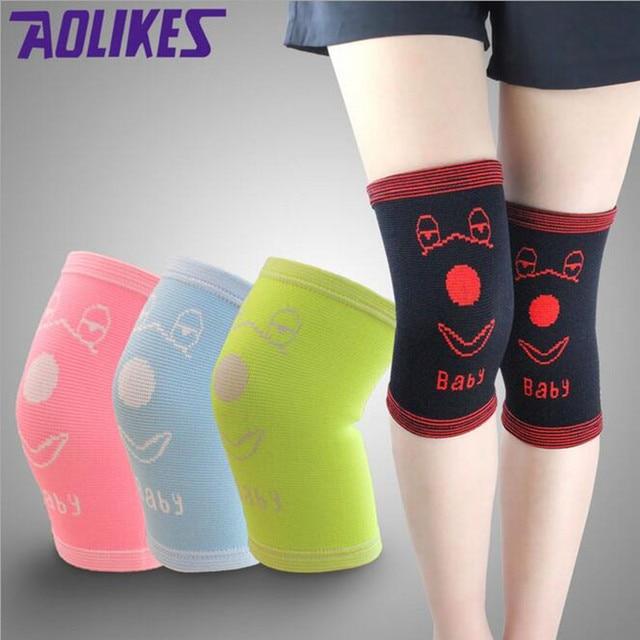 faf93da4b3 Cheap Children's Knee Protector 2018 Autumn Winter Warm Knee Sleeve Cute  Color Girls Elbow Pads Running Dance Guard