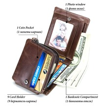 Trifold Design Card Holder Genuine Leather Wallet