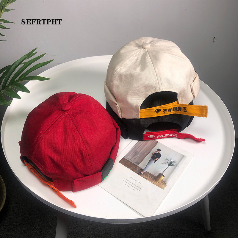 Skullies Beanies Womens Beanie Hats 2019 New Solid Cotton Casual Cap Beanie Skullcap Pumpkin Vintage Navy Beanies Men Brimless