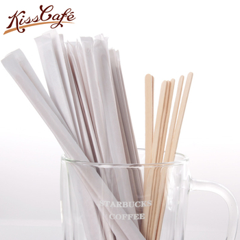 500 Adet Tek Kullanımlık Birchwood Çay Ahşap Kahve karıştırma çubukları Ahşap Karıştırıcı 19 cm
