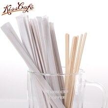 500 Pcs Disposable Birchwood Tea Wood Coffee Stir Sticks Wooden Stirrers 19cm
