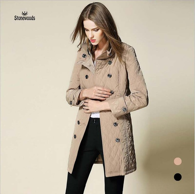 99be94d2b806e Womens Winter Jackets And Coats Double Breasted Parka European British  Style Plus Size Women Clothing Long Puffer Coat Ukraine